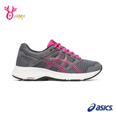 ASICS亞瑟士 成人女款 GEL-CONTEND 5 (D) 亞瑟膠 路跑入門 運動鞋慢跑鞋 H8388#灰紫◆OSOME奧森鞋業