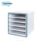《享亮商城》17500-MT 薄荷藍 開放式五層文件櫃 KAPAMAX