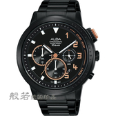 ALBA   IG廣告款 自我表態計時男錶-黑