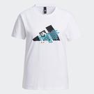Adidas CNY 女裝 短袖 T恤 純棉 下擺開衩 農曆新年 孔雀 白【運動世界】GP0705