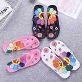 拖鞋買一送一時尚韓版卡通防滑人字拖女士外穿學生沙灘鞋網紅海邊平底夾腳拖鞋 JUST M