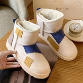 雪地靴女2020秋冬季新款加厚加絨棉鞋平底防水防滑百搭一腳蹬短靴