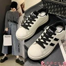 氣墊鞋港風小白板鞋女2021春季新款網紅百搭氣墊底日系學生一腳蹬帆布鞋 芊墨 618大促