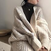 針織外套 秋冬新款外穿針織開衫復古時尚簡約加厚寬鬆麻花長款女毛衣外套女 南風小鋪