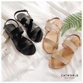 Catworld 簡約一字踝帶涼鞋【19000370】‧35-39