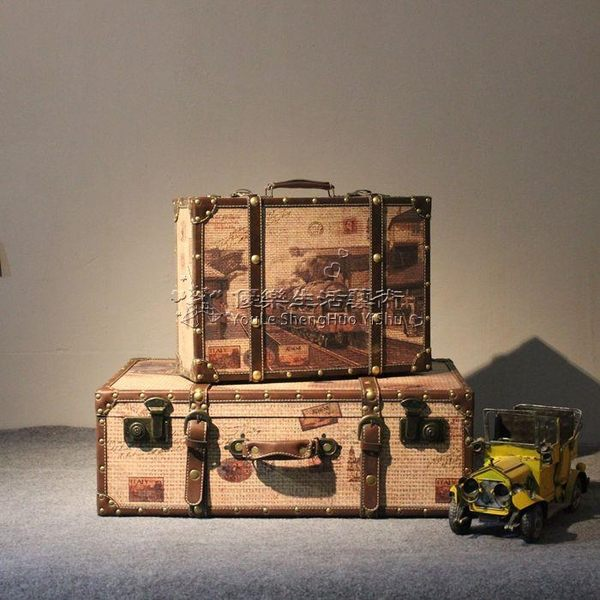 16吋復古手提行李箱攝影道具木箱 YL-XLX168