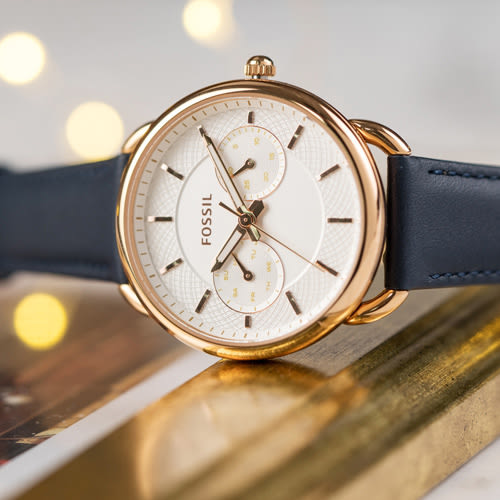 FOSSIL Tailor 藍色優雅時尚腕錶 ES4260 熱賣中!