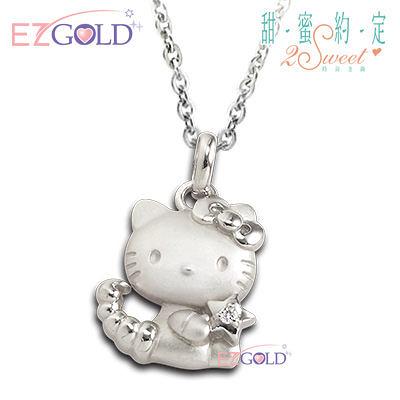 Hello Kitty凱蒂貓-天蠍座(10/24~11/21)-星座銀飾墜子