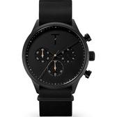 【台南 時代鐘錶 TYLOR】自由探索精神 風格多變三眼計時腕錶 TLAE005 皮帶 41mm