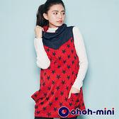 【ohoh-mini孕婦裝】造型立體領長版孕婦上衣
