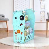 兒童音樂書架寶寶卡通繪本架 幼兒園塑料圖書架小孩簡易書柜igo『潮流世家』