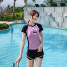 泳裝女 分體式泳裝 泳衣女 2020新款分體保守顯瘦遮肚平角運動款學生中大尺碼泳裝 溫泉  降價兩天