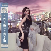 小禮服 名媛風法式高腰修身包臀裙2020新款秋裝性感氣質打底連衣裙小黑裙