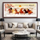 八駿圖掛畫客廳沙發背景牆裝飾畫辦公室字畫裝飾馬到成功大氣壁畫MBS「時尚彩紅屋」