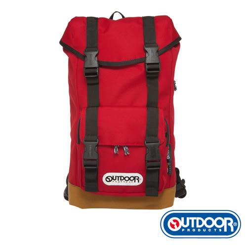 OUTDOOR-極簡探索系列-平板電腦皮底後背包-紅-OD4953CBRD