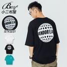 短T恤 MIT韓版反光月球字母落肩五分袖短袖上衣【NW621032】