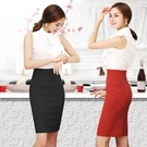 窄裙夏季高腰包臀裙彈力半身裙工裝裙黑色工作裙一步裙職業裙包裙女 萊俐亞