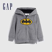 Gap男幼童 Gap x DC正義聯盟系列美國隊長拉鍊連帽外套 617803-灰色