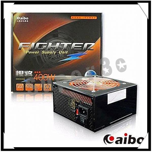 【超人生活百貨O】【悍將】12cm橘色風扇足瓦雙12V輸出電源供應器-400W