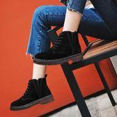冬季馬丁靴女英倫風2019新款學生加絨鞋子網紅棉鞋靴子百搭小短靴