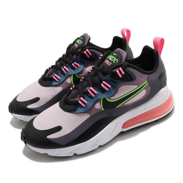 Nike 休閒鞋 Wmns Air Max 270 React 紫 黑 粉 女鞋 厚底 氣墊 運動鞋 【ACS】 CV8818-500
