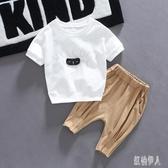 寶寶洋氣套裝兒童夏裝韓版帥氣短袖2020新男童潮裝洋氣兩件套潮 yu12623『紅袖伊人』