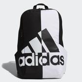 Adidas黑白對比大LOGO運動後背包-NO.FM6891