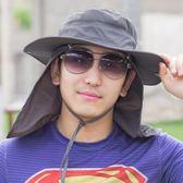 渔夫帽 釣魚帽子男士防曬帽夏天遮臉防紫外線遮陽帽登山帽戶外太陽帽透氣