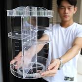 旋轉亞克力化妝品收納盒桌面置物架【步行者戶外生活館】