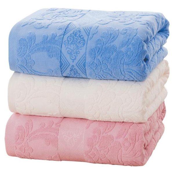 老式毛巾被純棉毯子單雙人全棉毛毯季薄紗布被子空調毯毛巾毯   伊衫風尚