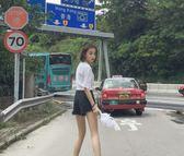 2018春季新款韓版女裝毛邊百搭高腰闊腿牛仔短褲女學生夏季熱褲潮 小巨蛋之家