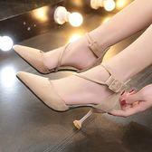 涼感高跟鞋女細跟小清新女鞋春夏季新款性感尖頭鞋子韓版百搭單鞋【非凡】