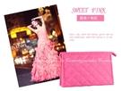 【菱格化妝包L號】時尚韓系保養品彩妝用具收納包 手拿包 化妝袋 洗漱袋