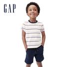 Gap男幼童 布萊納系列 純棉條紋圓領短袖T恤 669933-彩色條紋