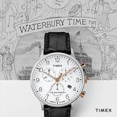 TIMEX 天美時 (TXTW2R71700) Waterbury 三眼 計時 冷光 男錶/40mm