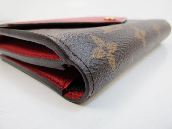 【巴黎站二手名牌專賣店】*現貨*LV 路易威登 真品*M60140 Pallas 經典花紋紅色皮革拼接中夾/錢包
