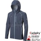 EasyMain衣力美 CE17087-05丈青 男耐磨快乾夾克風衣 Polartec防風95% 戶外機能外套/防寒防風