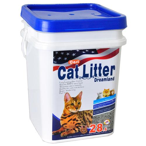 【寵物王國】【免運費】CARL卡爾-天然活性碳多功能貓砂(微香/抗菌/無塵)13kg