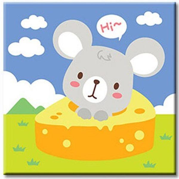 LOVIN 超萌韓版數字油畫 可愛鼠(01) 1幅