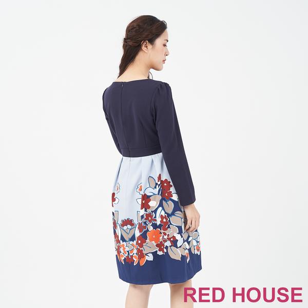 RED HOUSE-蕾赫斯-素面花朵洋裝(共2色)