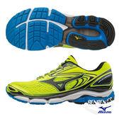 美津濃 MIZUNO 男慢跑鞋 WAVE INSPIRE 13 (螢光黃X黑) 暢銷支撐鞋款 J1GC174411【 胖媛的店 】