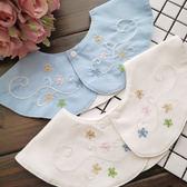 寶寶口水巾 日本360度圓形嬰幼兒童領結繡花假領子寶寶口水巾圍嘴 萌萌小寵