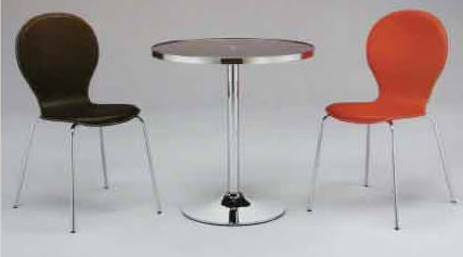 【南洋風休閒傢俱】餐桌椅-8056洽談桌+八字/三角米勒椅(皮) 洽談椅 餐椅 休閒椅 (549-14)