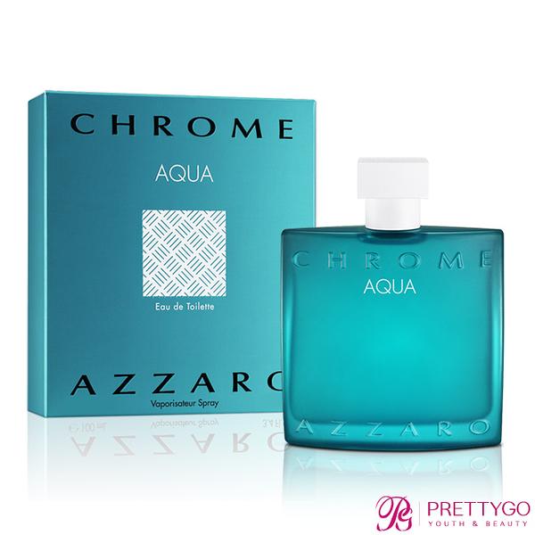 AZZARO chrome aqua 碧海鉻元素男性淡香水(50ml)-公司貨【美麗購】