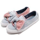 Converse Chuck Taylor All Star Knot 藍 紅 低筒 娃娃鞋 直條紋 蝴蝶結 女鞋【PUMP306】 560672C