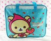 【震撼精品百貨】Rilakkuma San-X 拉拉熊懶懶熊~San-X 防水手提袋/收納袋-草莓#13020
