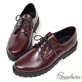 訂製鞋 復古質感紳士小皮鞋-紅