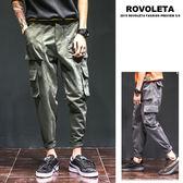 直筒大口袋休閒工作褲【HH-88900】(ROVOLETA)