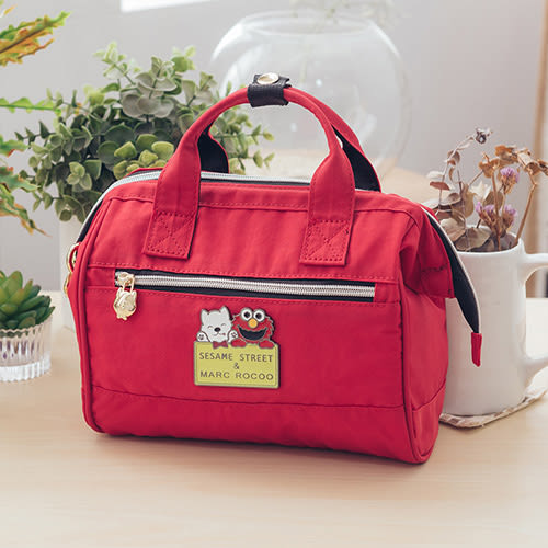 MARC ROCOOX芝麻街聯名款-漫遊輕旅迷尼手提2用包-8003-璀璨紅