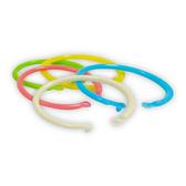 ABEL 力大牌 09710 1 1/4吋塑膠卡片圈環 混色7入 內徑約32mm